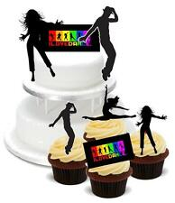 NOVELTY DANCE MIX PACK A 2 Large 12 Cupcake STAND UP Cake Toppers Birthday