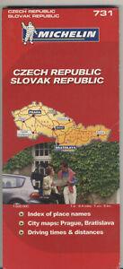 HUGE 2007 MICHELIN Map CZECH Slovak REPUBLIC 731 1/600,000 NEW