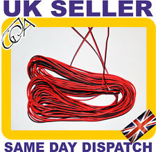 2 CORE RED AND BLACK 12V CABLE AMP CAR AUTO BOAT AUDIO SPEAKER WIRE UK