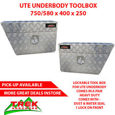 PAIR TOOLBOX HEAVY DUTY ALUMINIUM TOOL BOX UNDER TRAY UTE TRUCK TRAILER