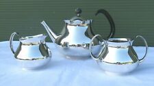 Vintage Mappin & Webb 3-Piece Silver Plate Tea Set Designed by Eric Clements