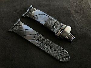 Apple Watch Strap   Genuine Ostrich's Paw Band   Watch Series 1 2 3 4  Handmade
