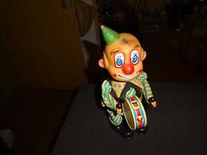 Carl Max ? vintage n.mint Clown als Trommler Uhrwerk läuft 60ies Top