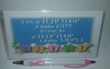 I'm a Flip Flop Kinda Girl Checkbook Cover with Free Awareness Pen