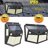 260 LED Solar Lamp Power PIR Motion Sensor Wall Light Outdoor Garden Waterproof