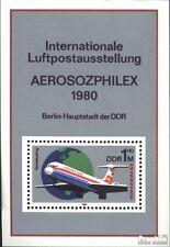 DDR Block59 (kompl.Ausgabe) gestempelt 1980 Interflug EUR 6