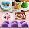 6Half Boule Sphère Gâteau Silicone Moule Muffin Chocolat Cookie Moule Poêle