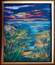 Felix Samuel Pfefferkorn *1945 Sunset Südliche Landschaft 80 x 65 cm WVZ V-82