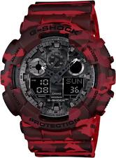Casio G Shock GA100CM-4A Men's Analog & Digital Red Camo Band Watch