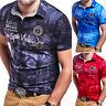 BEHYPE Herren Poloshirt Slim Fit Hemd Kurzarm T-Shirt Schwarz/Weiß/Grau/Blau NEU