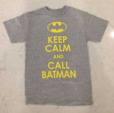 DC Comics Keep Calm and Call Batman Licensed Mens Tee Shirt