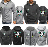Anaheim Ducks Hoodie Hockey Sports Hooded Coat Fleece Sweatshirt Gift for Fans