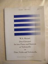 Partition Mozart Don Giovanni pour 2 flûtes Basson Violoncelle