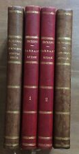 CHARLES DICKENS lot 4 volumes reliés 1880 French éditions  LEATHER BINDINGS