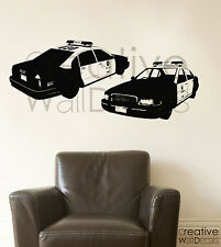 Vinyl Wall Decal Sticker American USA police car police man kids man gift r1839