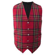 VINTAGE STYLE VEST Scottish Irish Tartan Plaid Check Formal Waistcoat