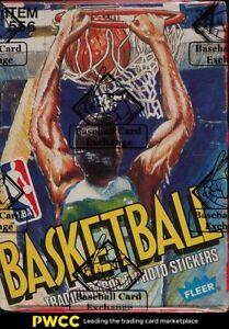 1989 Fleer Basketball Wax Box, 36ct Wax Packs, BBCE