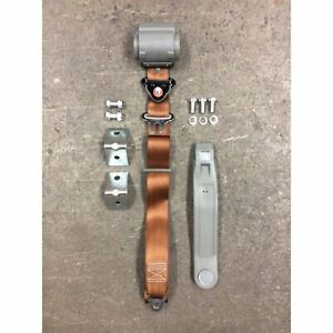 3pt Copper Retractable Seat Belt With Mounting Brackets - Standard Buckle Car V8