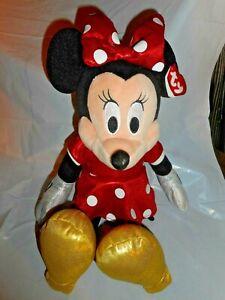 "TY 2016 Walt Disney SPARKLE MINNIE MOUSE 14 1/2"" Plush STUFFED ANIMAL Doll"
