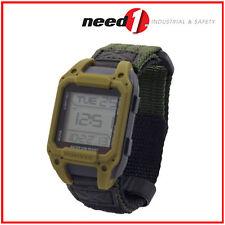 HUMVEE Recon Digital Men's Watch, 5ATM, Back Glow, Olive Drab Face