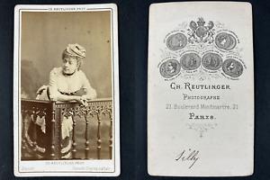 Reutlinger, Paris, Mademoiselle Silly, comédienne Vintage cdv albumen print.Ma