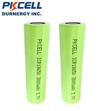 2 18650 3.7V 3000mAh Li-Ion Vape Lithium Rechargeable Batteries Flat Top PKCELL