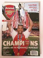 **ARSENAL FC OFFICIAL MAGAZINE / INVINCIBLES / WHL TITLE WIN MINT CONDITION**
