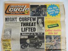 UK Motor Cycle Newspaper September 1977 Mike Hailwood Russ Collins Daytona L1175