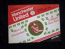 Orig.PRG   England 1.Division  1977/78  MANCHESTER UNITED - BIRMINGHAM CITY FC !