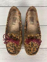 UGG Australia Women's 6.5 Brown Cheetah Animal Print Loafers Moccasin Slippers