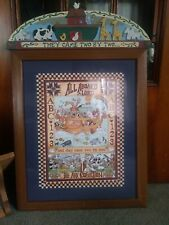 """All Aboard Said The Lord"" Noah's Ark Framed Art Home Interiors Homco lot of 3"
