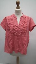 Orange Short sleeve Crinkle Blouse with Ruffle Front from F&F size 20