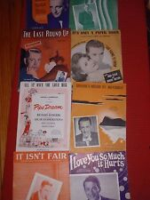LOT OF 8 ANTIQUE / VINTAGE SONG SHEETS MUSIC  BING CROSBY , PERRY COMO