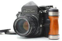 【Ecx+5】 Pentax 6x7 67 TTL Mirror Up Body + SMC T 105mm f2.4 Lens w/ Grip JAPAN