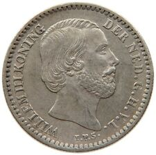 NETHERLANDS 10 CENTS 1889 TOP #t83 045