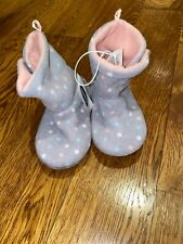 Toddler Girl Size 8 Old Navy Gray Boot Slippers Home Shoes NWT $13