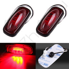 2pc Red Rear Fender Bed Side Marker LED Light Lamp With Taper For Dodge Ram 3500