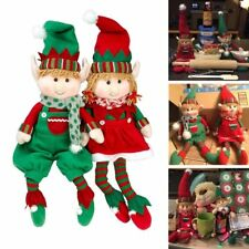 Christmas Posable Plush Elf Adorable Holiday Characters Boy Girl Doll Set of 2