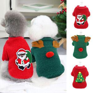 Dog Christmas Sweater Soft Fleece Jumper Cute Christmas Tree Winter Pet T-Shirt