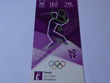 London 2012 Olympic Games ORIGINAL TENNIS ticket 5th Aug BRONZE MEDAL MATCHES!