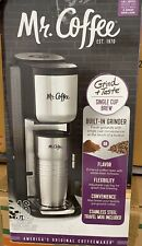 Mr. Coffee 16 oz Single Cup Coffeemaker with Built-in Grinder + Stainless Mug