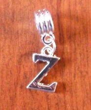 Pendentif argentée lettre Z