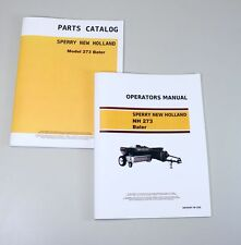 Set Sperry New Holland Hayliner Nh 273 Baler Owner Operator Parts Manual Service