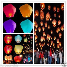 5PCS Chinese Paper Lanterns Candle Lamp Sky Flying Wishing  for Wedding Party