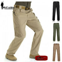 Mens Outdoor Military City Tactical Ripstop Combat Trousers Camping Casual Pants