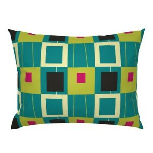 Abstract Geometric Mid Century Modern Pillow Sham by Roostery