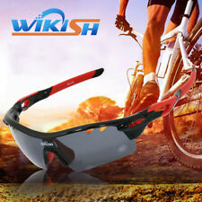 5 Lens Polarized Cycling Glasses Riding Climbing Fishing Google Anti-UV HD Image