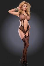 Sexy Body Stocking Garter Suspender Open Crotch Bodysuit Plus Size Lingerie