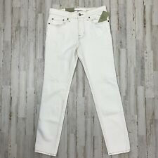 Goodfellow & Co Mens Skinny Jeans Size 30 x 30 White Total Flex Distressed Brody