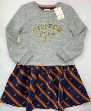 Nwt Mini Boden Girls 5 6 Harry Potter Hogwarts Sequin Seeker Snitch Dress Rv $60